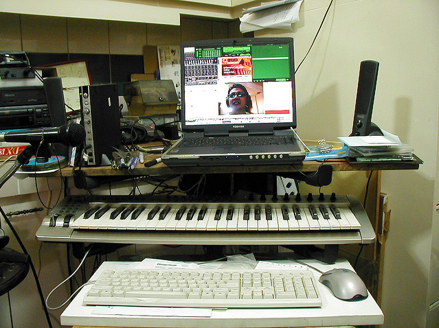 My musical workspace circa 2006