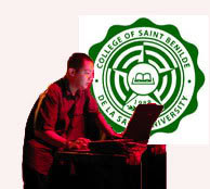 Acid42 and the College of St.Benilde seal