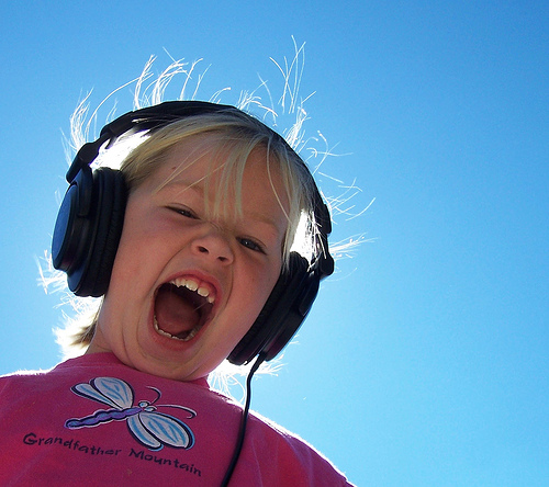 "Photo of a child wearing headphones - ""Jammin"" by flattop341"