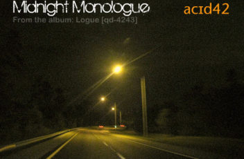 Midnight Monologue - single cover by Acid42