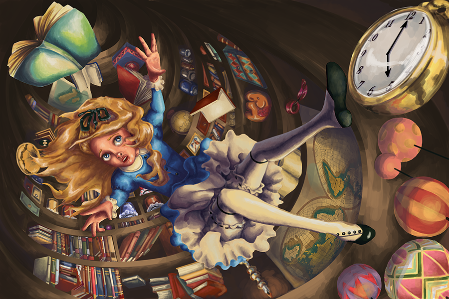 Alice in Wonderland: Rabbit Hole by cat-o-morphism